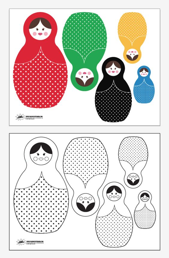 Free Printable Russian Dolls for