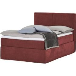 Boxspringbett Boxi Classic Rot Masse Cm B 140 H 125 Betten Boxspringbetten Boxspringbett Betten Boxi Box In 2020 Red Bedding Box Spring Bed Bed Furniture