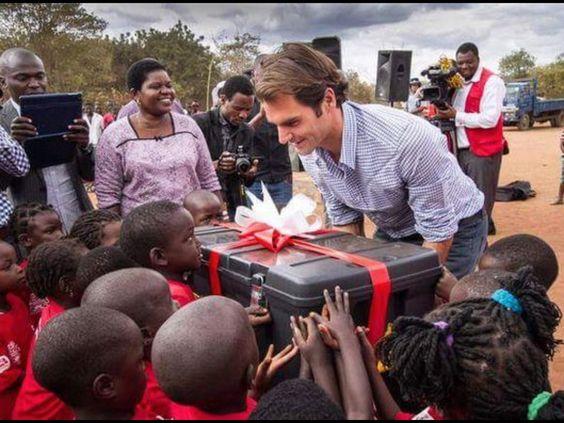 Roger Federer in Malawi - what an amazing guy: