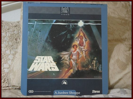 STAR WARS CED Capacitance Electronic Video Disc The Empire Strikes Back 1984   Junk 709 http://ajunkeeshoppe.blogspot.com/
