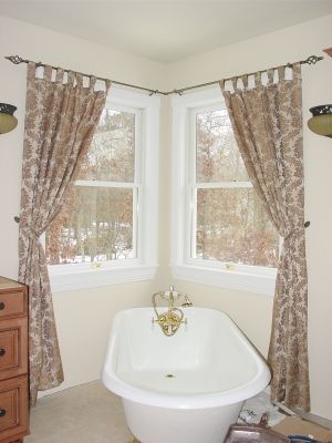 Window Treatments Curtain Rods And Corner Window