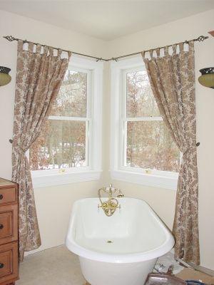 Window Treatments Curtain Rods And Corner Window