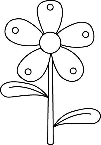 Homework paper clipart black and white flower