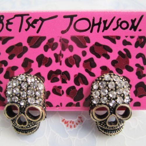 New Betsey Johnson Jewelry Skull Earrings USA SELLER & FREE Gift  #BetseyJohnson #Stud