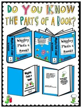 math worksheet : parts of a book for first graders  the book bug fiction book  : Parts Of A Book Kindergarten Worksheet