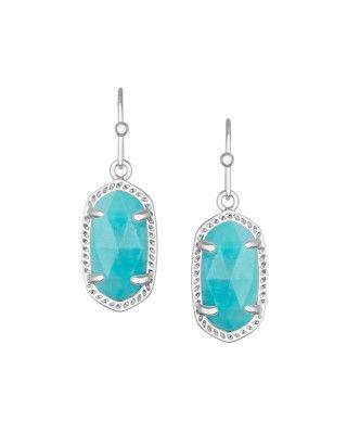 Lee Silver Earrings in Turquoise