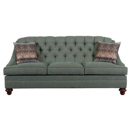 found it at wayfair   windfall tufted sofa in teal with