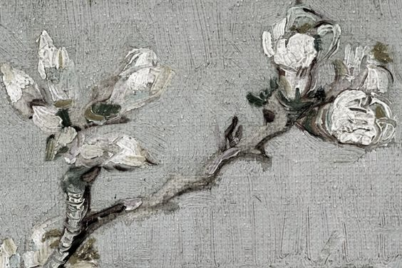"""olivf: """" Detail - Flowering Almond in a Glass by Vincent Van Gogh """""""