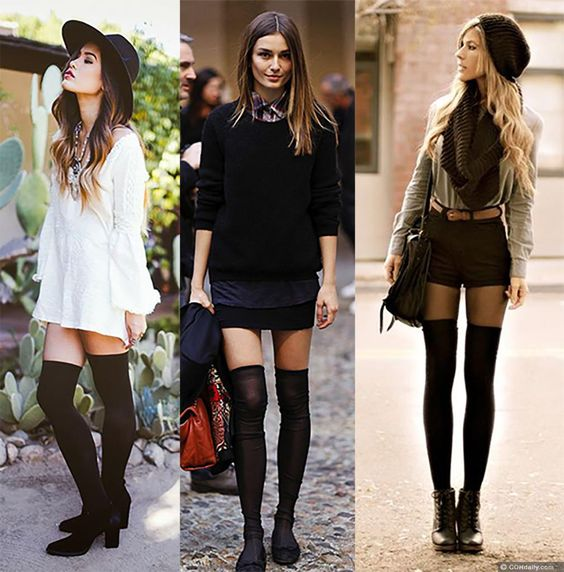 5 Ways To Wear Thigh High Boots Without Looking Trashy | COHdaily ...