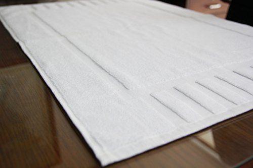 Luxury White Cotton Bath-Mats Hotel-Spa-Washable-tub-Set 100/% Cotton