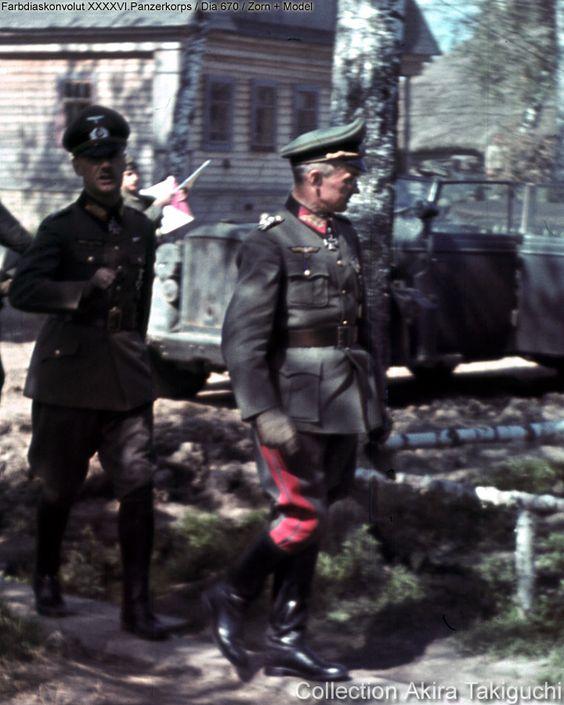 General der Infanterie Hans Zorn & Generalfeldmarschall Walter Model. Eichenlaubträger, Heer General der Infanterie, Ritterkreuzträger
