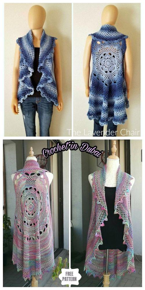Sunset Mandala Circular Vest Free Crochet Pattern Crochet Vest