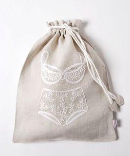 Saquitos personalizados para guardar la lencería