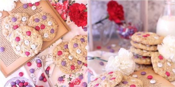 Cookies de avena, cacahuetes y M&M'S
