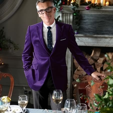 Purple velvet slim fit jacket | Men's jackets & blazers from ...
