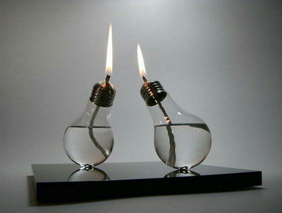 Light bulb gas burners