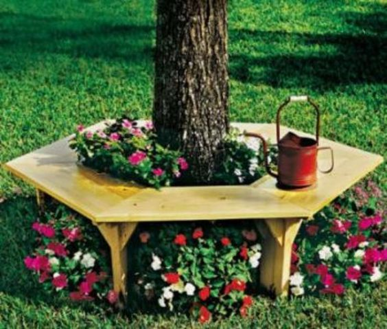 Adding a tree bench to your backyard