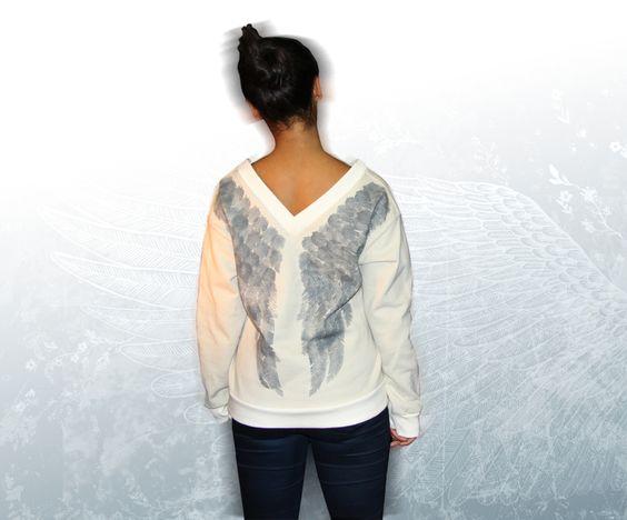 Sweatshirt mit Flügeln von kwolf_f, auf DaWanda.com , Sweatshirt wings, Wing fashion