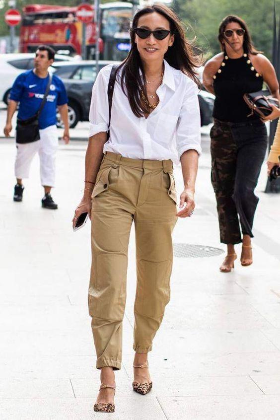 Los Pantalones Cargo También Se Pueden Usar Para Ir A La Oficina Y Verse Ultra Chic | Cut & Paste – Blog de Moda