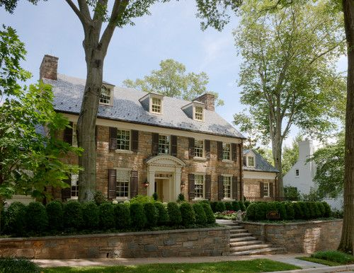 Stone Georgian Home - traditional - exterior - dc metro - Barnes Vanze Architects, Inc: