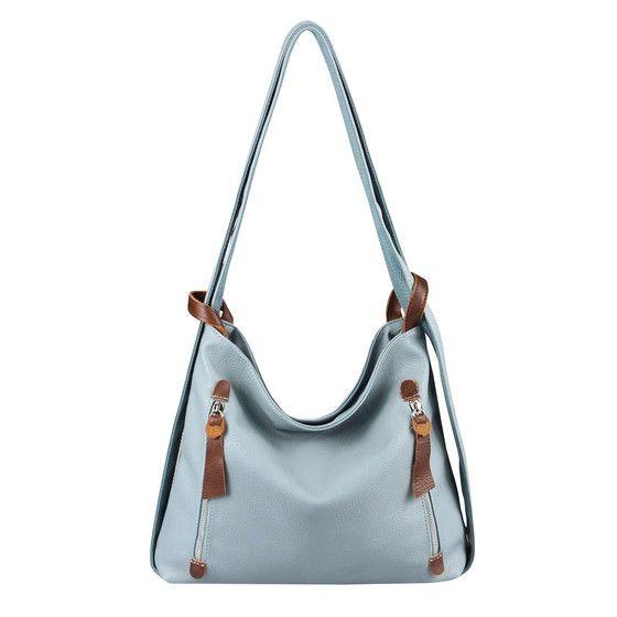 Obc Damen Tasche Rucksack 2 In 1 Umhangetasche Schultertasche Pb705 Lblau In 2020 Taschen Damen Rucksack Tasche Schultertasche