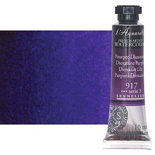 Sennelier L Aquarelle Watercolor Tubes 10ml Dioxazine Purple