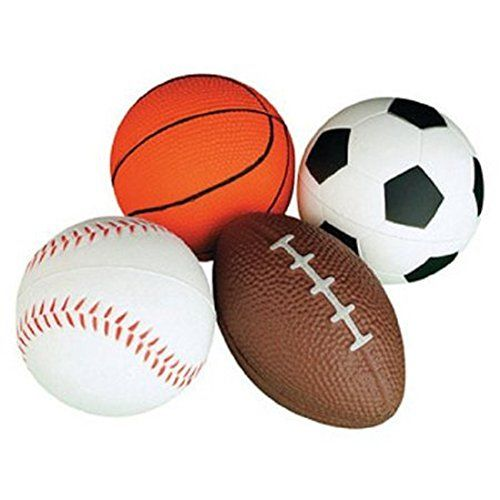Yiwa Set Of 4 Soft Pu Mini Sports Balls For Kids Football Basketball Soccer Baseball Check This Awesome Product Sports Balls Gifts For Sports Fans Ball