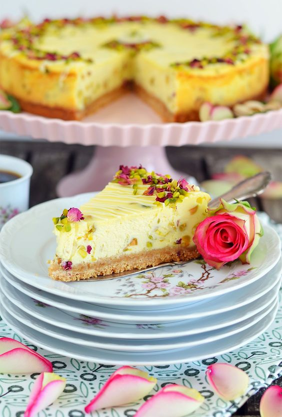 [Backen f�r Mutti] White Chocolate Pistachio Cheesecake mit dem Lisa Freundeskreis und den American Pistachio Growers