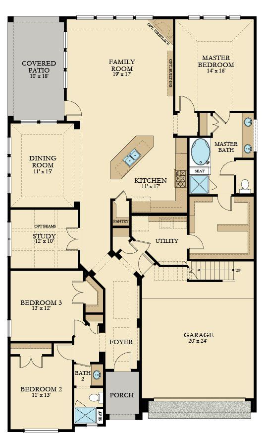 Palmer New Home Plan In Wildwood At Northpointe Champions Collection Luxury Patio Homes By Lennar New House Plans House Plans Barn House Plans