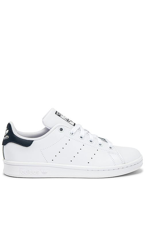 adidas Originals Stan Smith Sneaker in White & Dark Blue ...