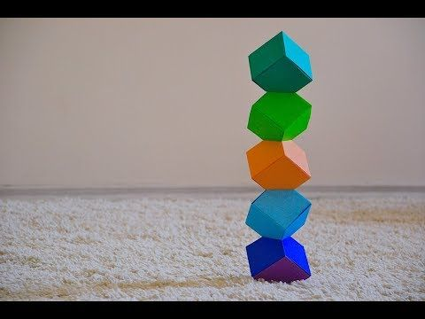 How To Make 3D Cube With Paper - 3D Illusion Origami | Make Cube ... | 360x480
