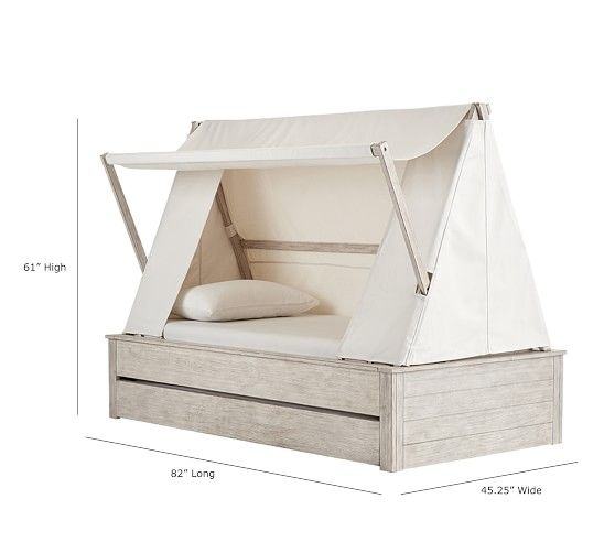 Wyatt Canopy Bed And Trundle Pottery Barn Kids Trundle Bed