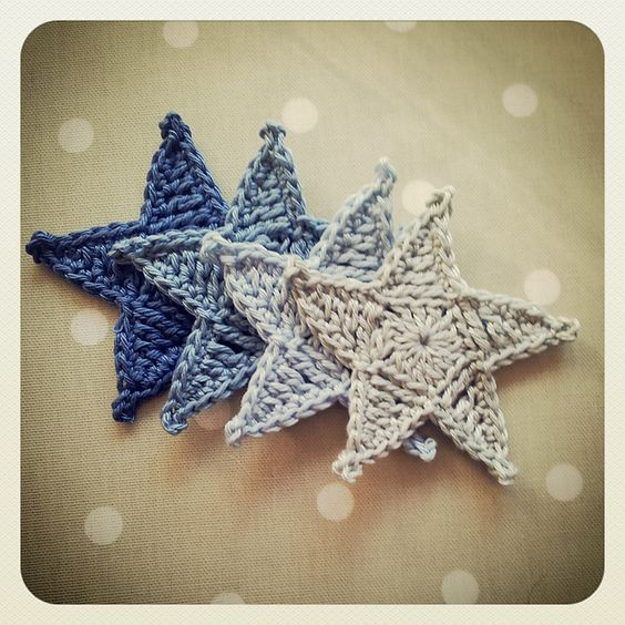Free Crochet Pattern Christmas Star : Ravelry: Crochet Star FREE pattern by Crochet Tea Party ...