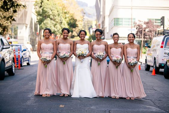 Wedding Dresses San Francisco California : Bridesmaid blush and dresses on