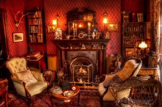 Victorian Living Room.