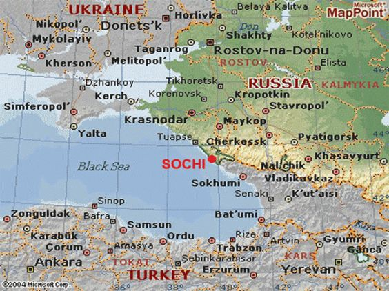 Map Showing Where Sochi Russia Is Located Sochi Winter Olympics - Sochi map