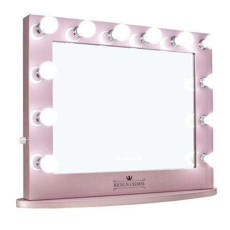 Reigncharm Hollywood Vanity Mirror 12 Led Lights Dual Outlets