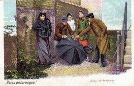 Des petits métiers à Paris en 1900, joueur de bonneteau
