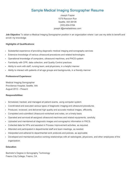 Sonographer Resume Sample resume samples sample prn cardiovascular