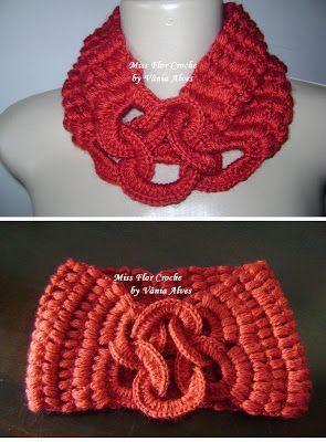 Patrones para Crochet Clase. Cuello Bufanda con Anillas