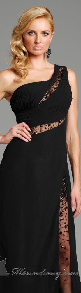 Jolene high couture dress #oneshoulder #black