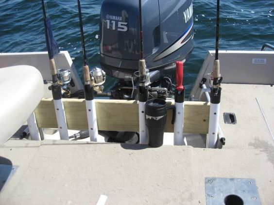 Homemade rod storage holders for boat open water for Homemade fishing rod holders