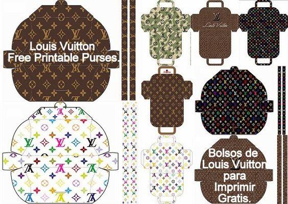 Louis Vuitton: Bolsos para Imprimir Gratis.