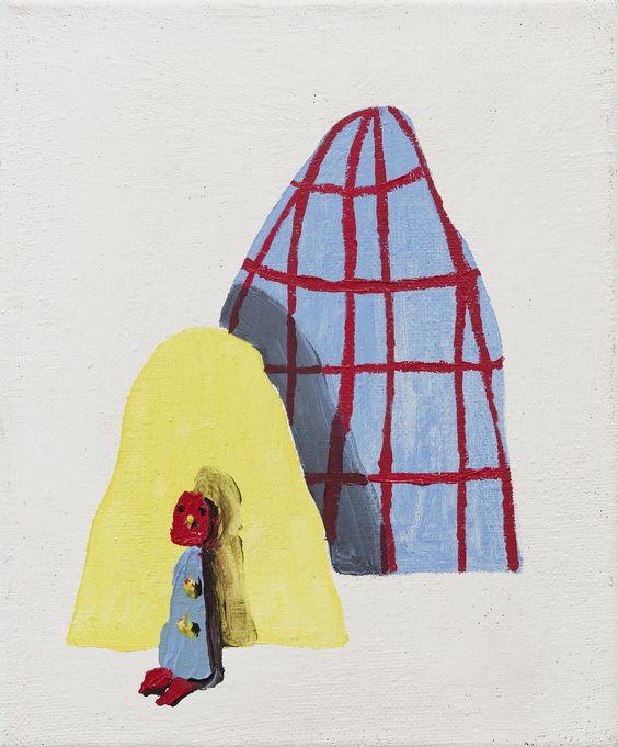 Alicia Paz, Untitled, 2009, Oil on jutte canvas, 30 x 25 cm , Courtesy Galerie Dukan