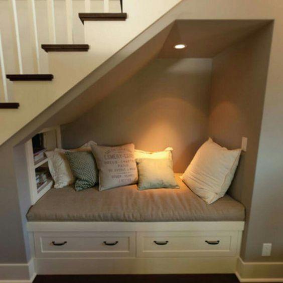 Under the stair case nook
