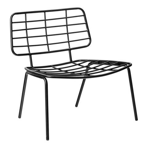 Bloomingville Black Mesh Lounge Chair Chair Metal Chairs Furniture