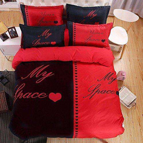 Ktlrr Couple Queen King Size Duvet Cover Sets No Comforte Https Www Amazon Com Dp B073p5449c Ref Cm Sw R Couples Bedding Set Duvet Bedding Sets Couple Bed