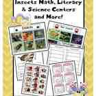 $8 This PreK and Kindergarten insect packet includes 24 full color animals pictures to sort, response sheets, facts sheets, a guided reading book, 2 reading games, 2 math games, and more!  PreK & K.