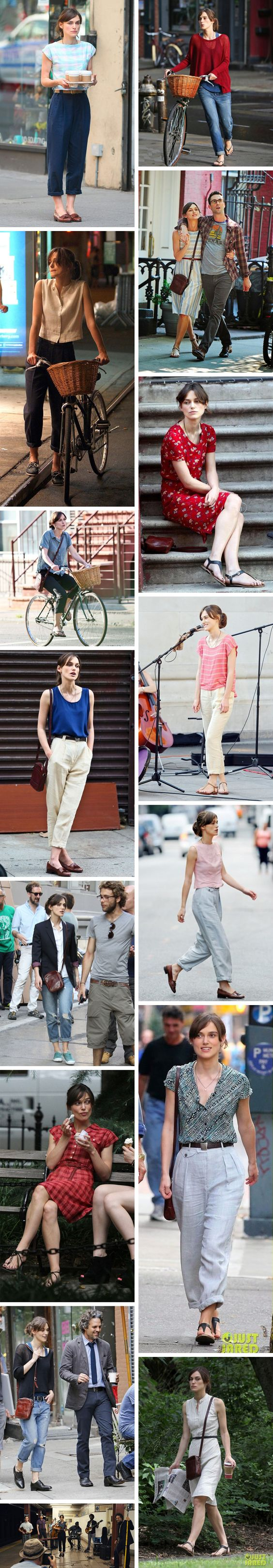 Gingerly Witty Friday LinkFest Begin Again wardrobe Keira Knightly