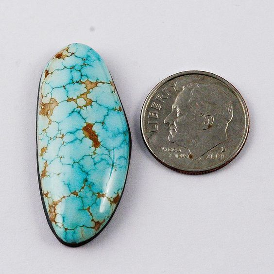 25 Carats RARE Old Natural Gem 8 Number Eight Edgar Turquoise Cabochon Cab | eBay